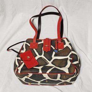 Dooney and Burke Giraffe LG Shoulder Handbag